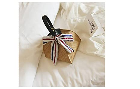 Women Bohemian Straw Bag Triangle Female Summer Harajuku Mini Shoulder Messenger Rattan Bag Beach Bag Sac
