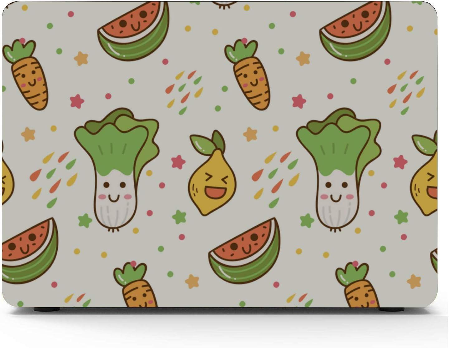 Cover for MacBook Air Summer Sour Retro Cute Fruit Lemon Plastic Hard Shell Compatible Mac Air 11 Pro 13 15 2018 MacBook Air Case Protection for MacBook 2016-2019 Version