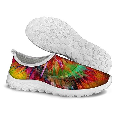 para U diseños Elegante Ligero Verano Transpirable Malla Sport Zapatillas de Running para Mujer: Amazon.es: Zapatos y complementos