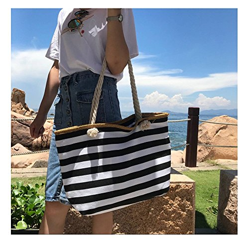 TOTZY Canvas Gym Tote Bag for women Black by TOTZY (Image #4)