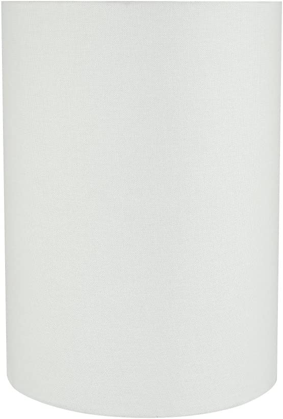 Aspen Creative 31261 8 Wide 8 x 8 x 11 Transitional Drum Cylinder Shaped Spider Construction Lamp Shade, White