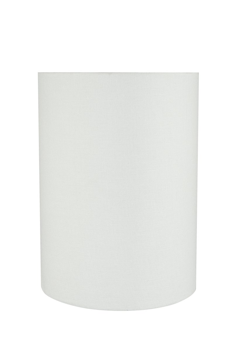 Aspen Creative 31261 8'' Wide (8'' x 8'' x 11'') Transitional Drum Cylinder Shaped Spider Construction Lamp Shade, White