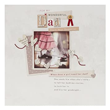 Hallmark Birthday Card For Dad From Your Daughter Large Square