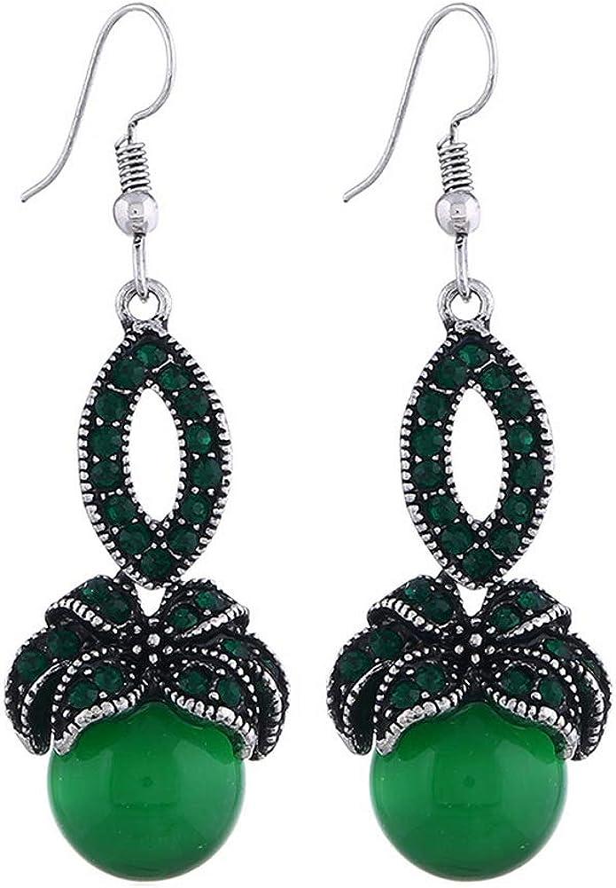 YAZILIND Vintage rhinestone piedras preciosas colgantes Drop Dangle pendientes joyas estilo punk para ella