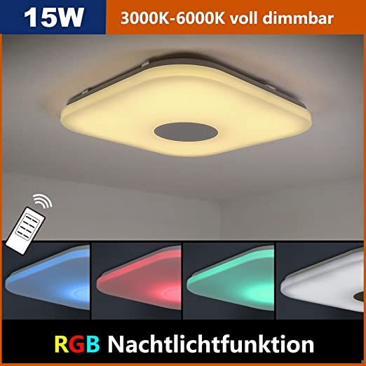 Natsen® LED Ceiling Light 15W Modern Lamp 360 * 360mm 1500Lumen ...