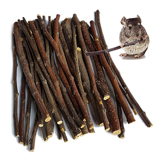 (Sharllen 100g (3.5oz) Apple Sticks Pet Snacks Chew Toys for Guinea Pigs Chinchilla Squirrel Rabbits Hamster)