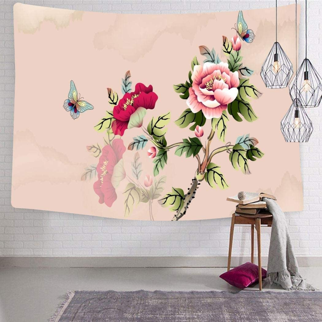 Tapiz de flores florales para colgar en la pared son personalizables para decoraciones de habitaciones