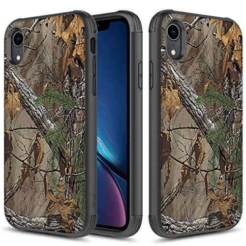 Phonelicious iPhone XR Case Hybrid Dual Layer Tough Rugged Slim Phone Cover (Camouflage)
