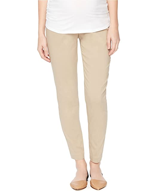 270af3abf8699 Belly Bliss Maternity Khaki Petite Ankle Jeans at Amazon Women's ...
