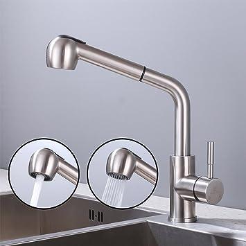 ausziehbare Einhebel Küchenarmatur Spültischarmatur Küchen Wasserhahn mit Brause