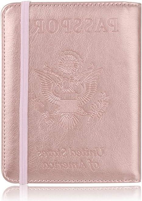 Unisexe Embosser Couvertures De Passeport PU Porte-Passeport en Cuir Housse IRF Wallet Voyage pour Femme Homme