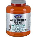 NOW Sports Creamy Chocolate Whey Protein Isolate, 5-Pound