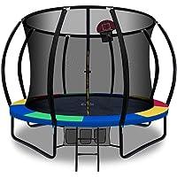 Trampoline 10ft 12ft Kids Indoor Outdoor Exercise Trampolines with Enclosure Basketball Hoop Everfit