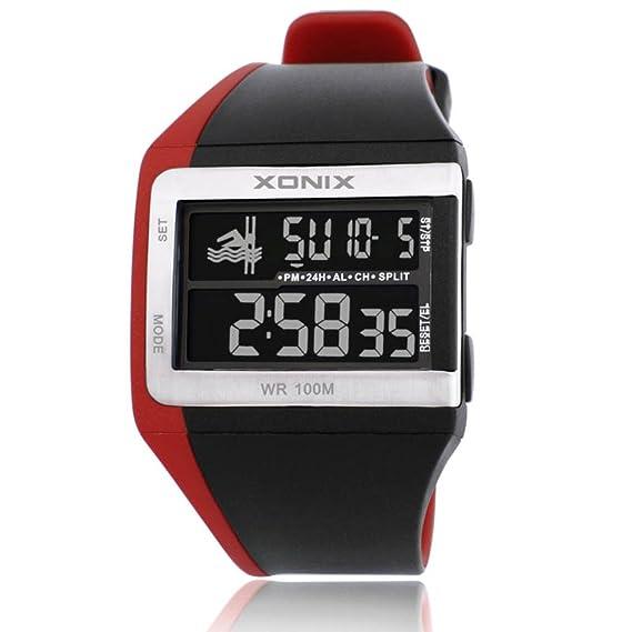 Clásico versátilLEDReloj/Reloj digital deportivo resistente al agua-F: Amazon.es: Relojes
