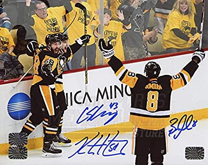 Kris Letang Pittsburgh Penguins Sign Autograph Stanley Cup Champs Inscribe Puck