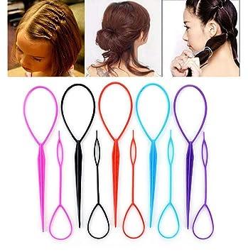 Amazon 10pcs5 Large 5 Small Tail Hair Styling Kit Plastic