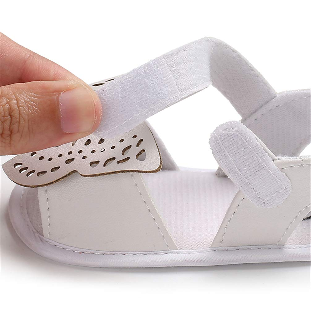 for 0-18 Months ACAREU Baby Girls Summer Sandals Hollow Butterfly Baby First Walking Shoes Little Princess Anti-Slip Crib Shoes