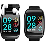 Smart Watch with Bluetooth Earbuds Wireless Earphone Fitness Tracker Heart Rate Monitor Bracelet Wrist Band for iPhone Androi
