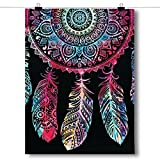 60″ x 80″ Blanket Comfort Warmth Soft Plush Throw for Couch Colorful Dreamcatcher Spiritual