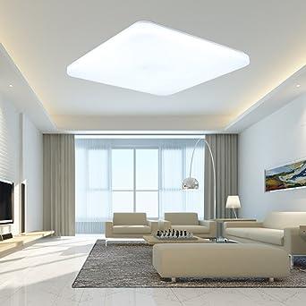 sailun 24w kaltweiß deckenleuchte quadra ultraslim led deckenlampe ... - Lampen Led Wohnzimmer