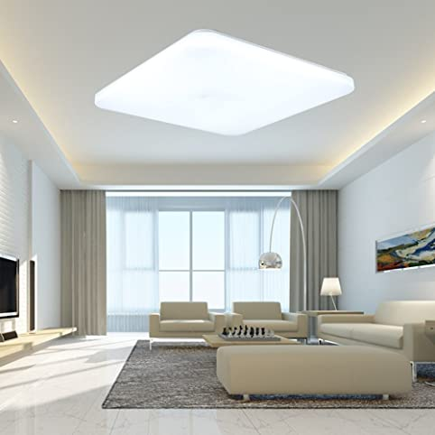 SAILUN 24W Kaltweiß Deckenleuchte Quadra Ultraslim LED Deckenlampe ...