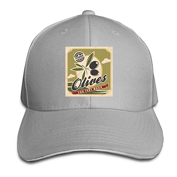 WRTAS Olive You Very Much Trucker Hat Sunscreen Style Flat Caps at ... af788bc9920