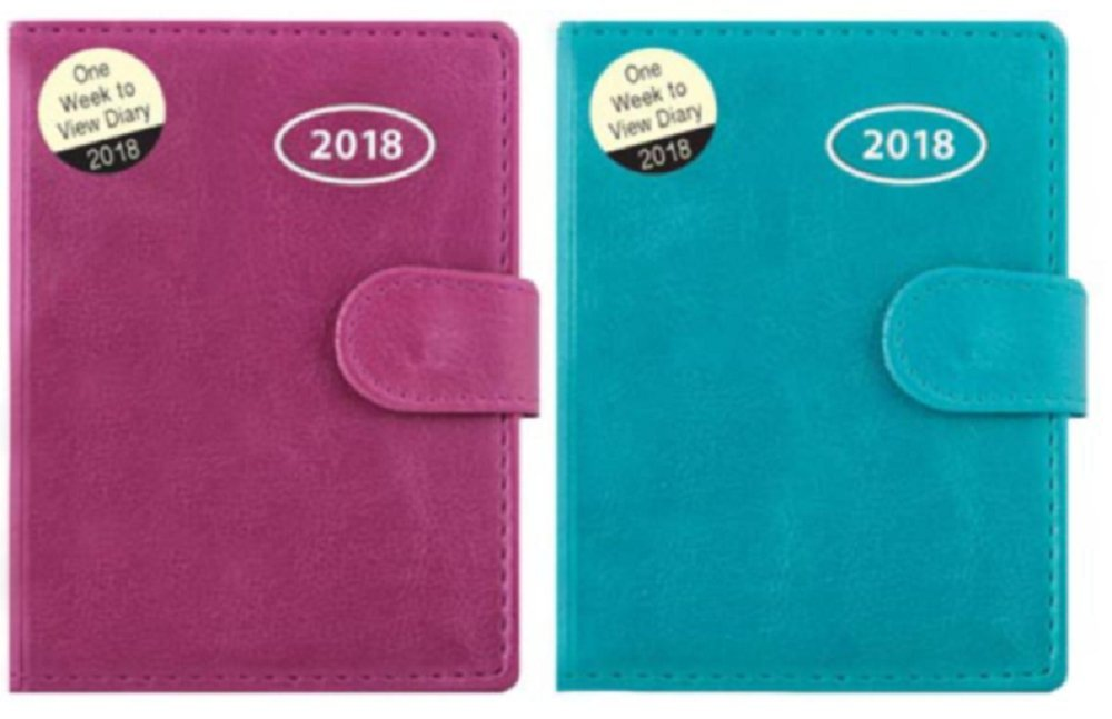 1x 2018 Pocket, Week to View Diary & Address Book - Colour at Random Tallon