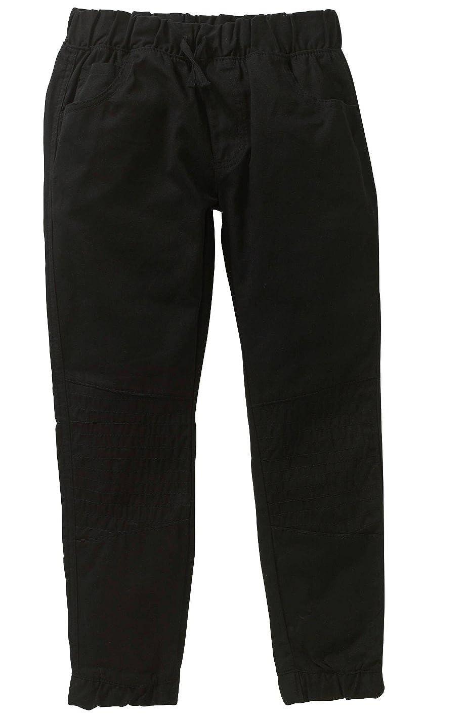 Small 4, Midnight Blac Label Boys Twill Cargo Jogger Pants,