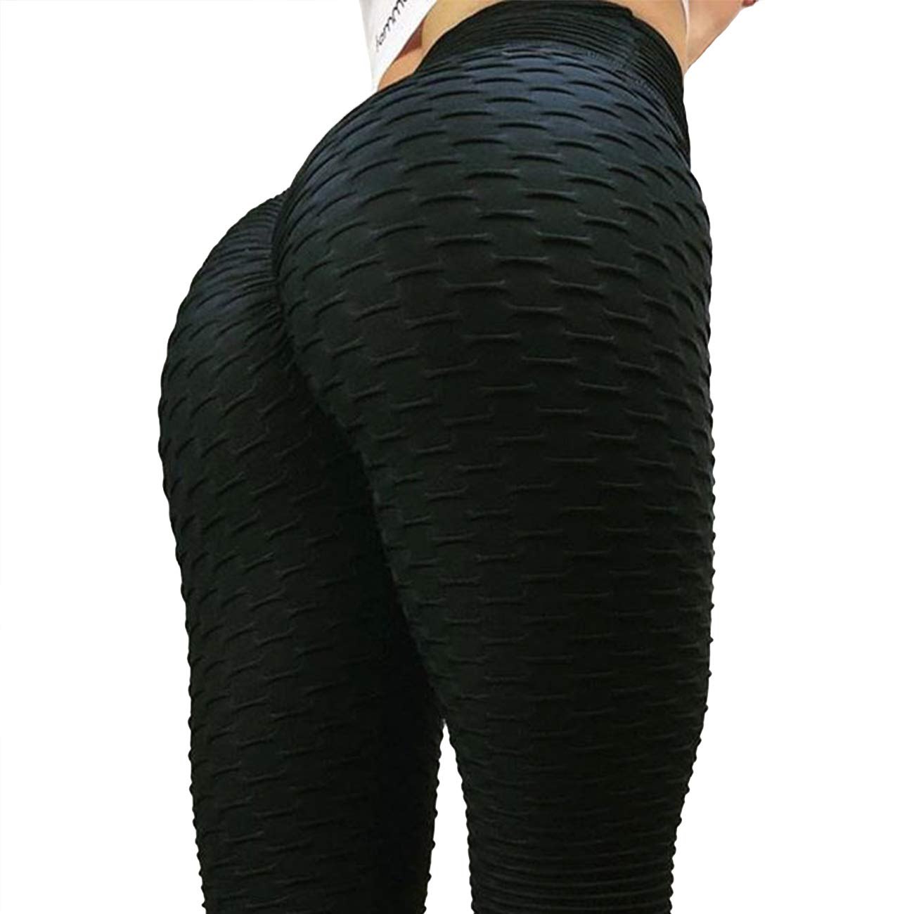 c9844e770165b FITTOO Women Sexy High Waist Butt Scrunch Push Up Leggings Stretch Gym  Workout Yoga Pants: Amazon.co.uk: Sports & Outdoors