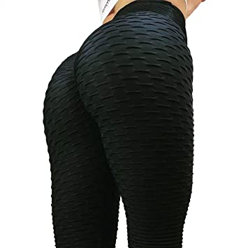 af9405a7990ee FITTOO Women Sexy High Waist Butt Scrunch Push Up Leggings Stretch Gym  Workout Yoga Pants: Amazon.co.uk: Sports & Outdoors