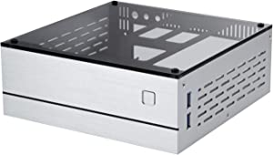 Goodisory A01 Aluminum Mini-ITX HTPC Desktop Computer Chassis (Sliver Tempered Glass)