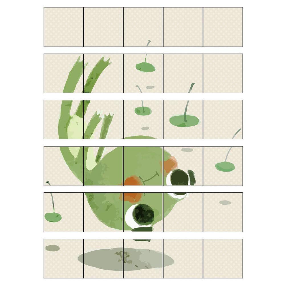certainPL DIY Fall Over Frog Wall Stickers, Household Art Mural Decals for Kids Bedroom Living Room Decor (Green)