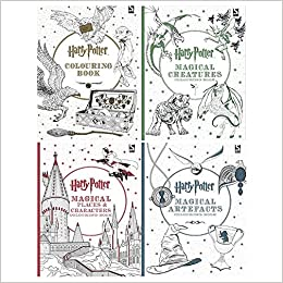 Harry Potter Colouring Book 1 4 Books Collection Set Harry Potter Colouring Book Magical Creatures Magical Places And Characters Magical Artefacts Warner Brothers 9789123776313 Amazon Com Books