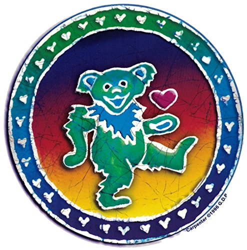 Grateful Dead Dancing Bear Batik - Window Sticker / Decal (5.25