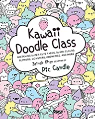 "Create your own kawaii world with Pic Candle and Kawaii Doodle Class! The Japanese word kawaii translates to ""cute,"" and this how-to book is chock-full of super-adorable images of tacos, sushi, smoothies, clouds, rainbows, cacti, doodl..."
