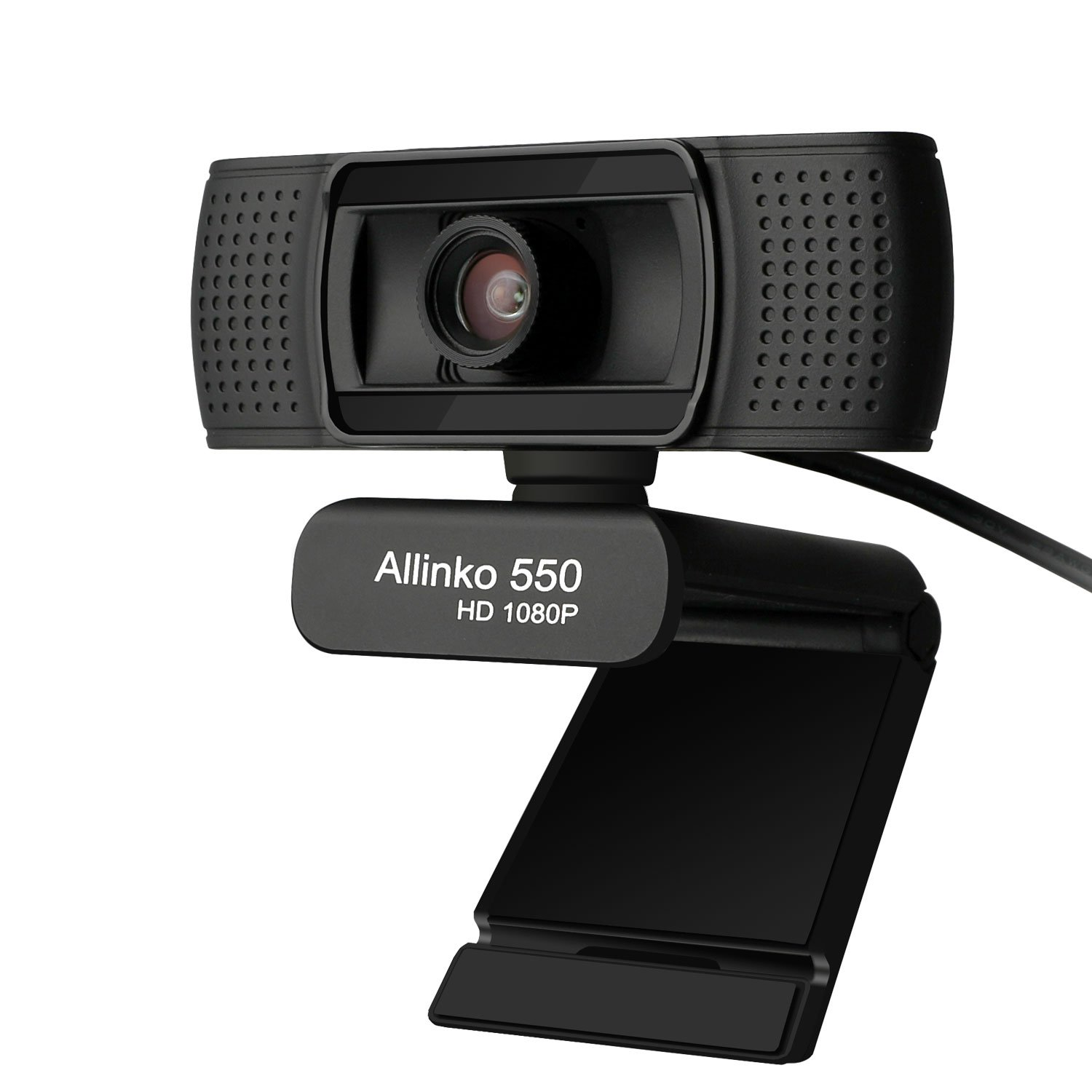 Allinko 550 Webcam 1080P Full HD, USB Web Camera with Microphone Compatible with Windows 10 8 7 XP Mac OS X, Skype Webcams for Laptop PC iMac Macbook Pro, Plug and Play Webcams
