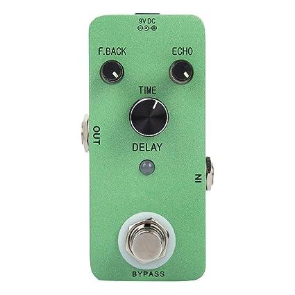 Procesador de sonido de pedal de efecto de retardo de guitarra ...