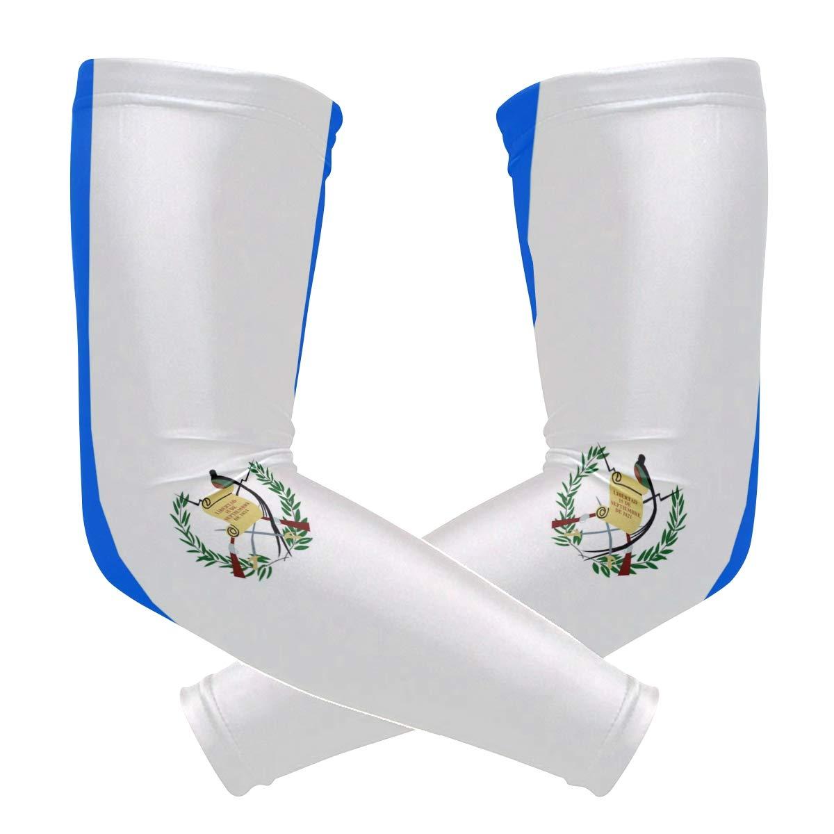 Chinein アームスリーブ UV冷却スリーブ アームカバー メンズ レディース グアテマラ国旗 B07JNV75HW
