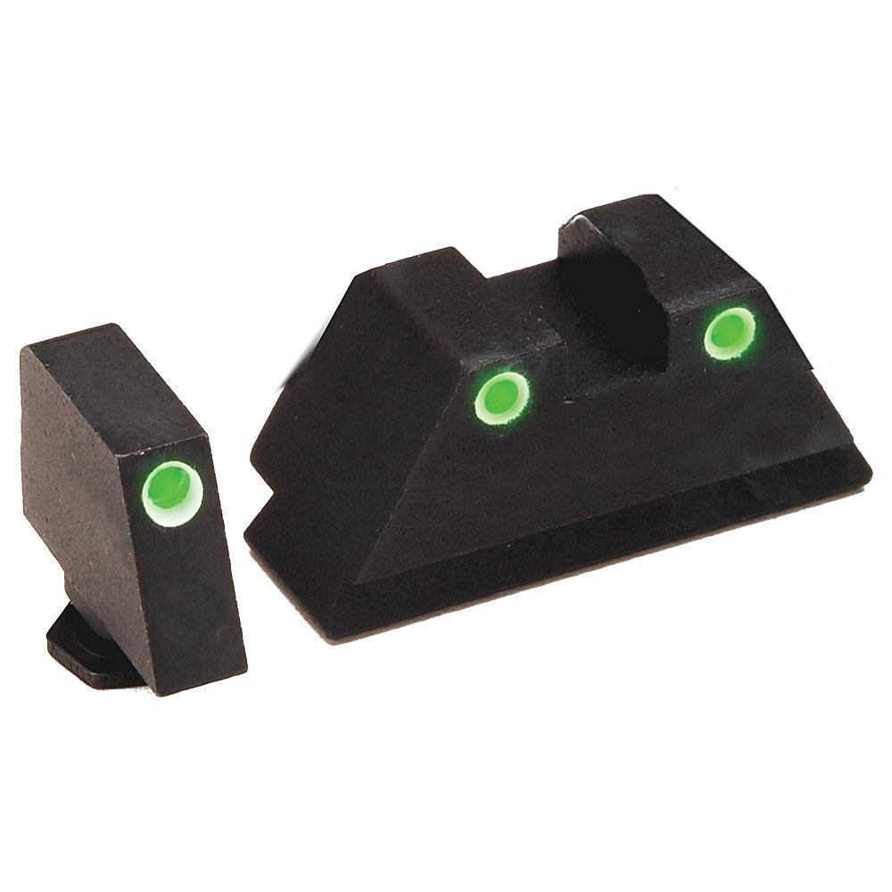 AmeriGlo GL-329 Tall Suppress 3Dot Tritium Compatible with Glock, Black