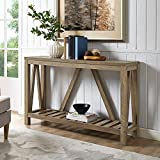 oak accent tables Home Accent Furnishings New 52 Inch Wide A-Frame Entry Table - Rustic Oak Finish