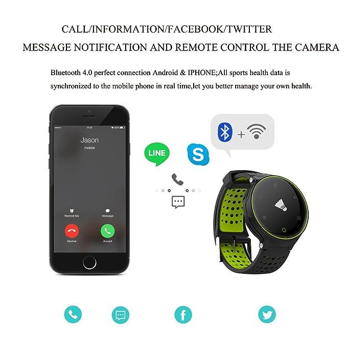 Microwear X2 Smartwatch Bluetooth 4.0 IP68 Sedentario a Prueba de Agua Sueño / Monitor de Ritmo Cardíaco Podómetro (rojo)