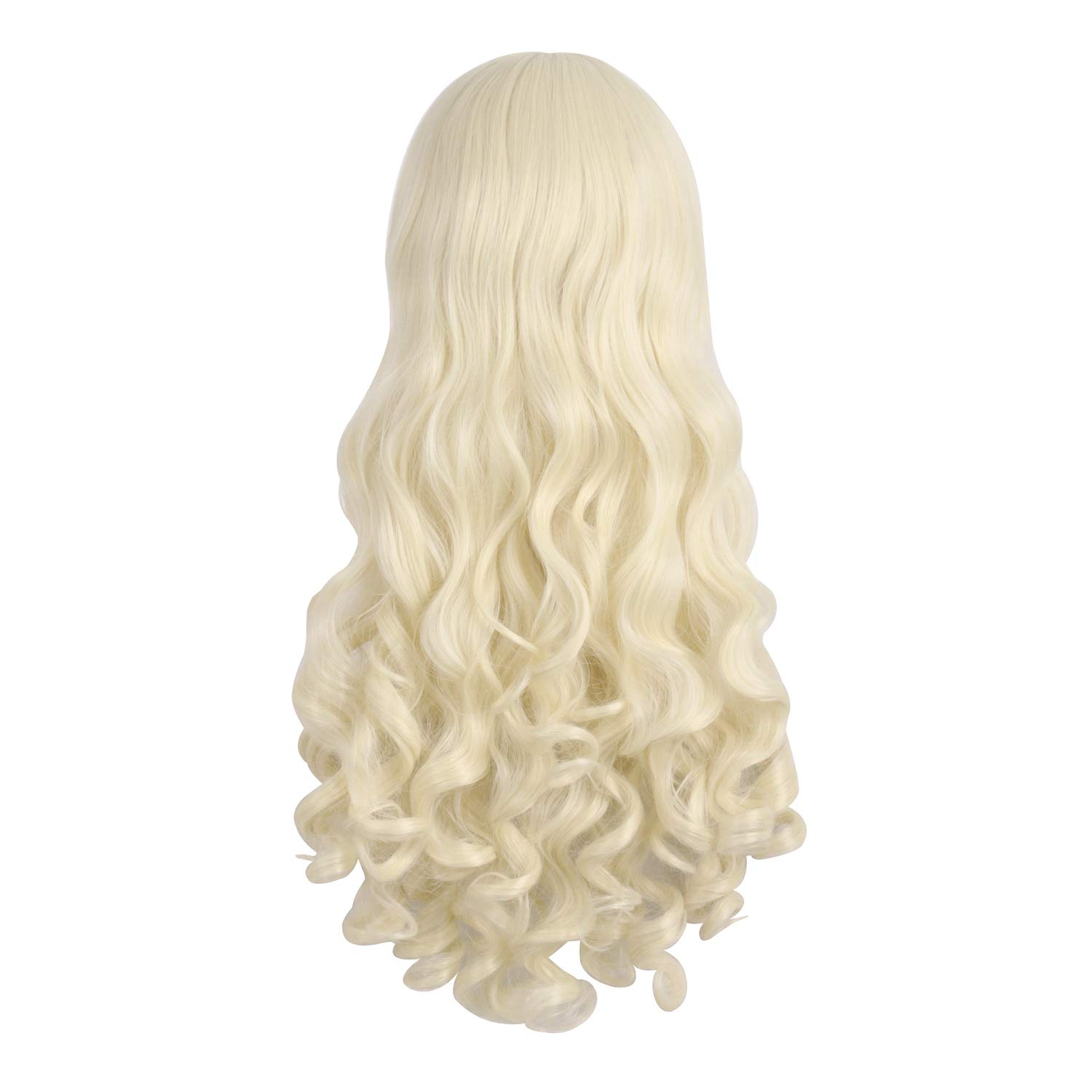MapofBeauty 28//70cm Lolita Long Curly Clip On Ponytails Cosplay Wig Brown