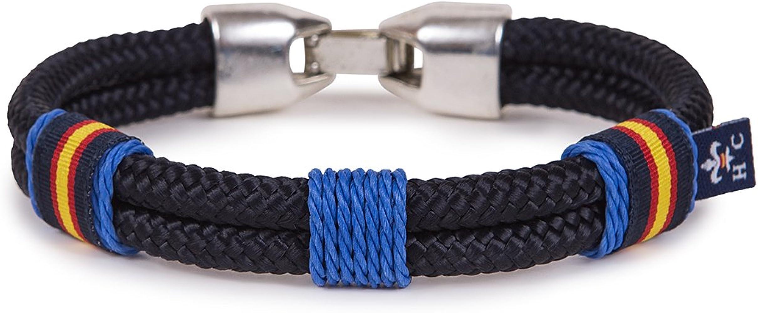 SoloGemelos - Pulsera Cordón Náutico Azulon Con Bandera - Azul, Azulon - Hombres - Talla Unica: SoloGemelos: Amazon.es: Ropa y accesorios