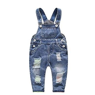 Amazon.com: Conjunto de pantalones para niños, ropa rota con ...