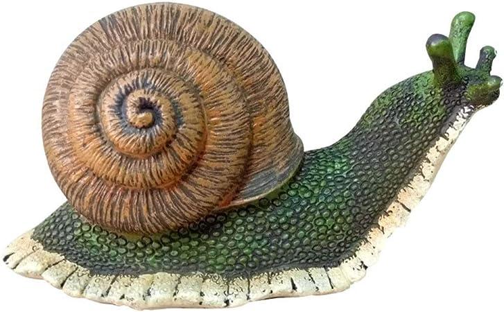 Patio Personalidad Adorno de jardín Al Aire Libre Resistente a la Intemperie - Adornos de jardín Estatuas Selva Una Vida Real Caracoles (Color : Snails, tamaño : A): Amazon.es: Hogar