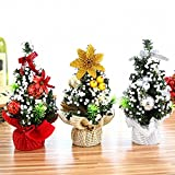 3 Pcs Mini 8 inch Christmas Tree with Christmas Decoration Balls Desk Table Decor Christmas Party Decoration Creative Xmas Gifts for Kids