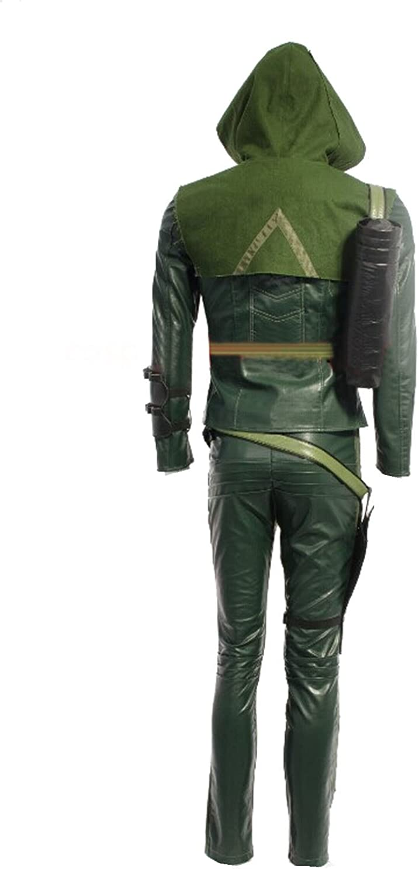 Arrow Disfraz Oliver Cosplay adultos – Con capucha verde oscuro ...