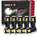 BRISHINE 194 LED Bulbs 6000K Xenon White Extremely Bright 5630 Chipsets 168 2825 175 T10 W5W LED Replacement Bulbs for…
