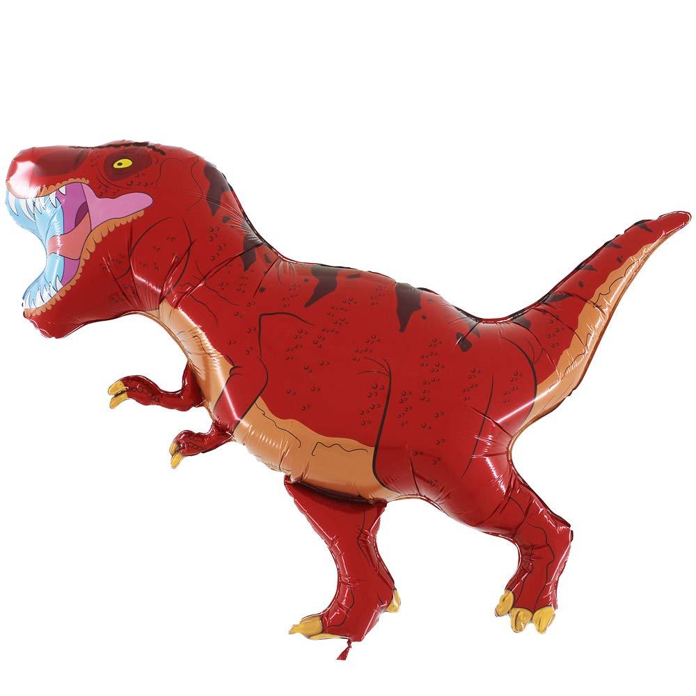 Grabo Balloons Palloncino Pallone Dinosauro T-Rex Rosso Foil Mylar Aria Elio Sagomato Festa Compleanno 40//100 cm