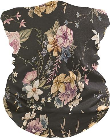 Women Bandana Face Masks Watercolor Floral Neck Gaiter Mask Headband Sport for Men Face Scarf